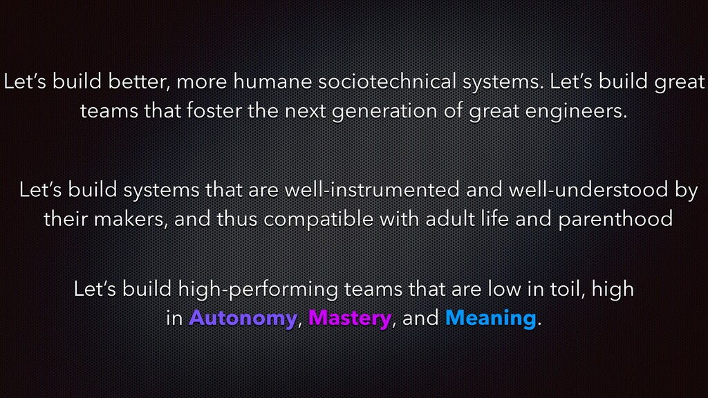 Let's build better, more humane sociotechnical ...
