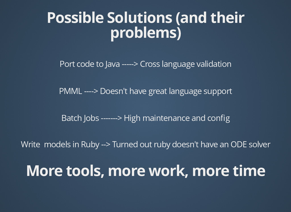 Write models in Ruby --> Turned out ruby doesn'...