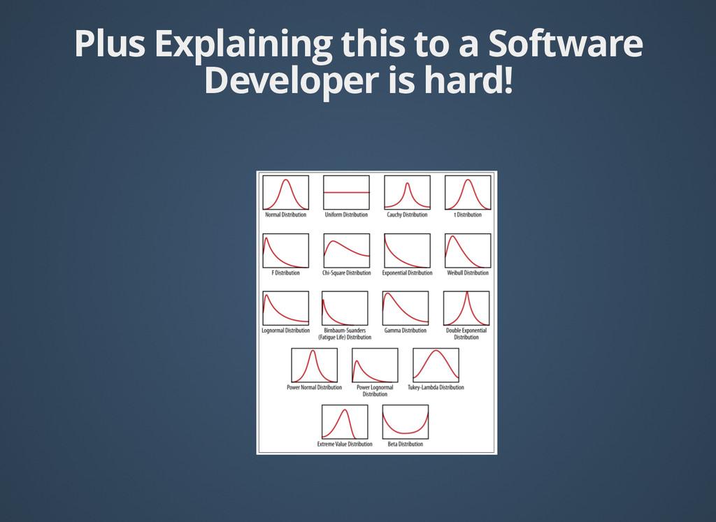 Plus Explaining this to a Software Plus Explain...