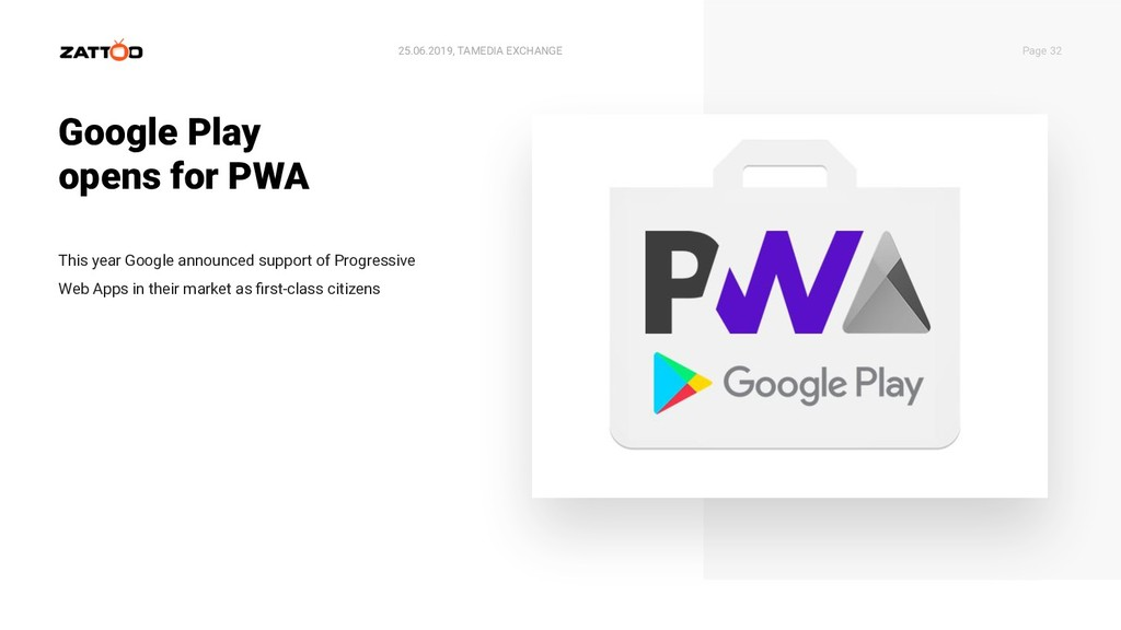Google Play opens for PWA 25.06.2019, TAMEDIA E...