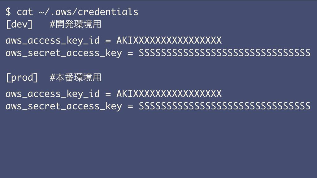 $ cat ~/.aws/credentials [dev] #։ൃڥ༻ aws_acces...