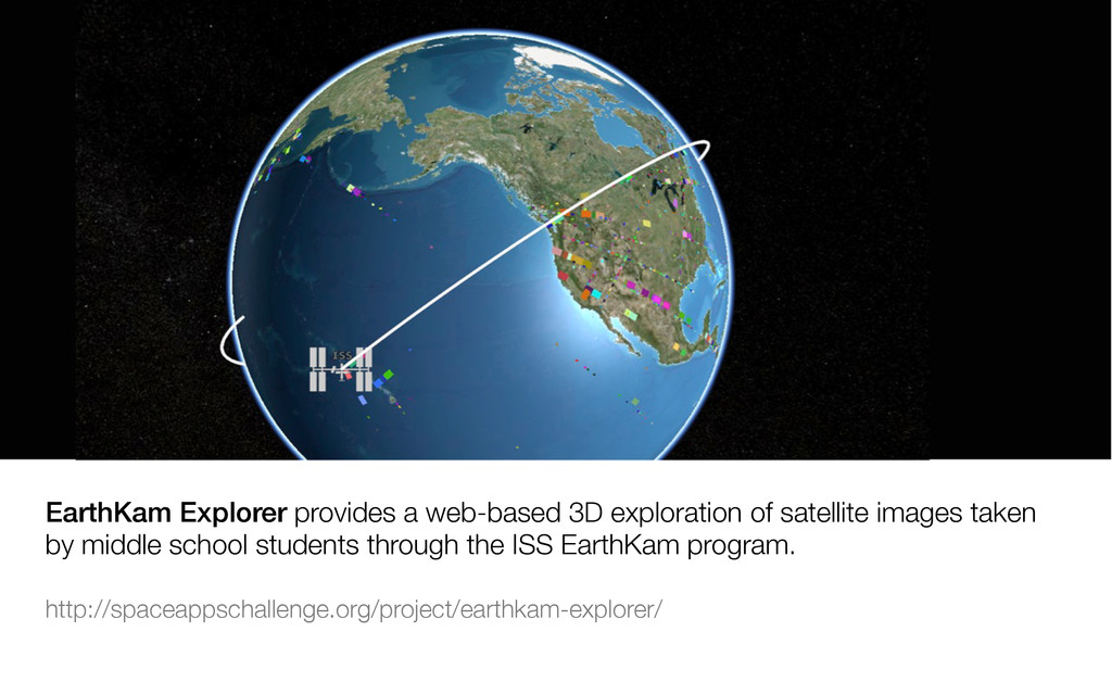 EarthKam Explorer provides a web-based 3D explo...