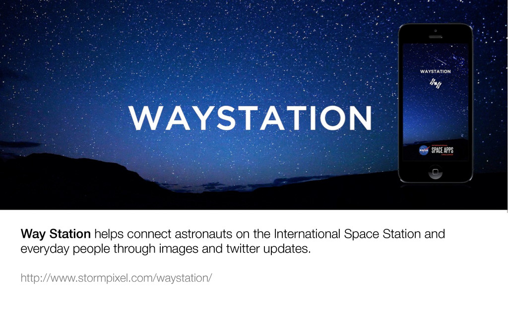 Way Station helps connect astronauts on the Int...