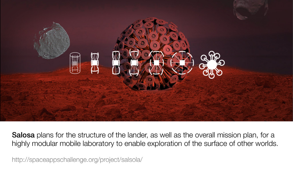 Salosa plans for the structure of the lander, a...