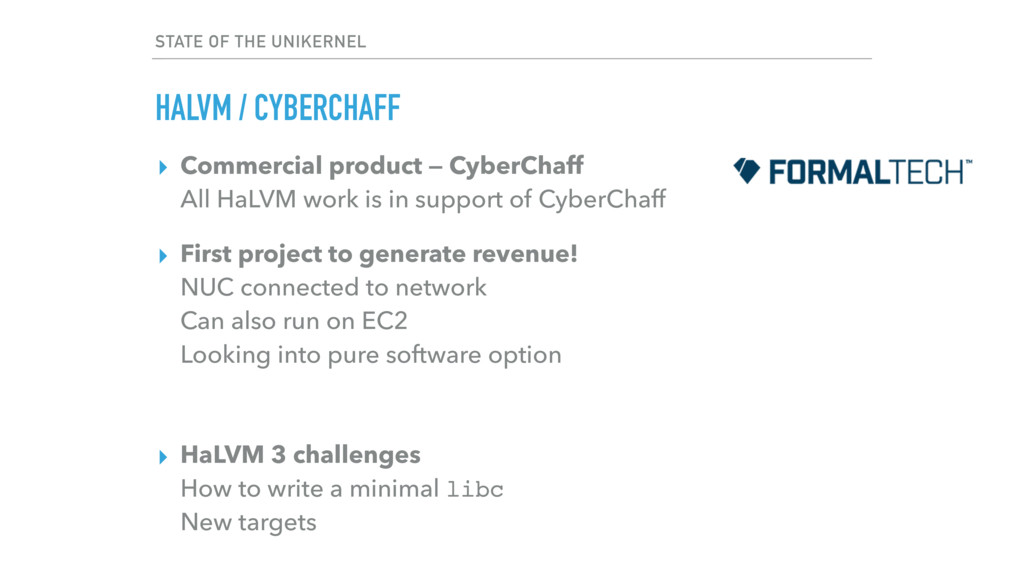 ▸ Commercial product — CyberChaff All HaLVM wo...