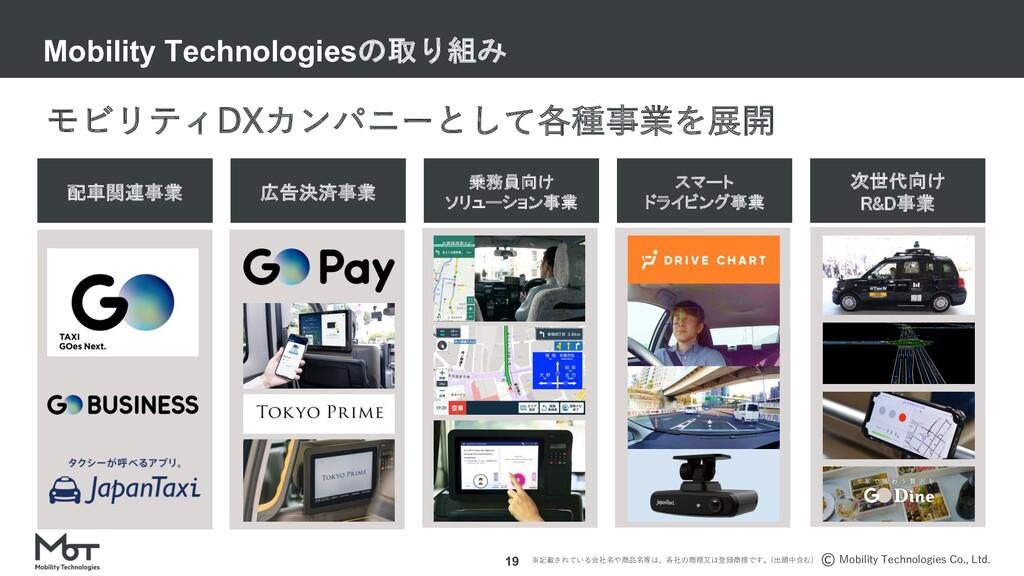 Mobility Technologies Co., Ltd. 18 乗務員向けソリューション...