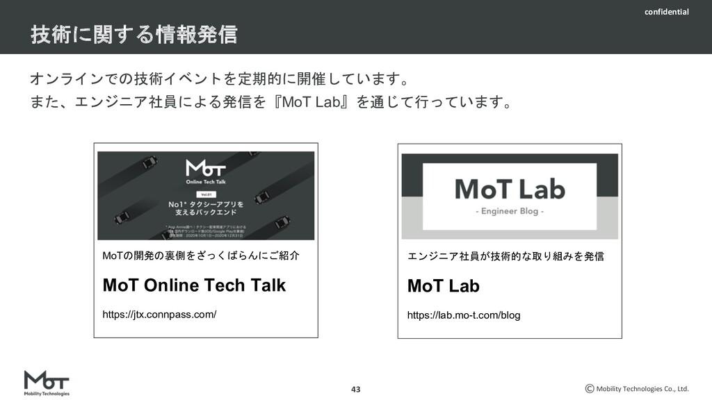 confidential Mobility Technologies Co., Ltd. タク...