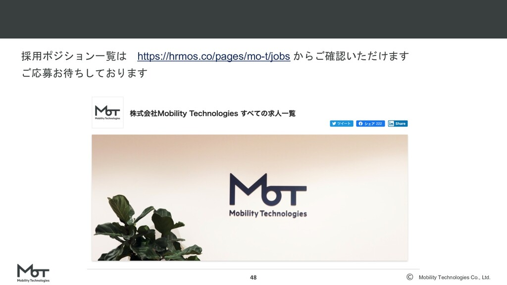 confidential Mobility Technologies Co., Ltd. コロ...