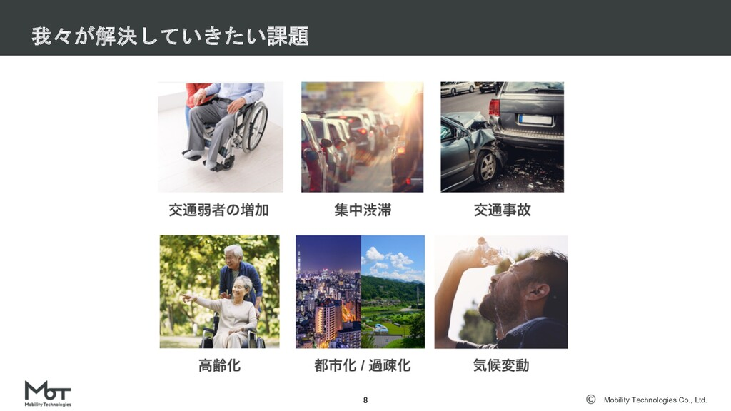 Mobility Technologies Co., Ltd. Vision 8 安⼼・安全な...