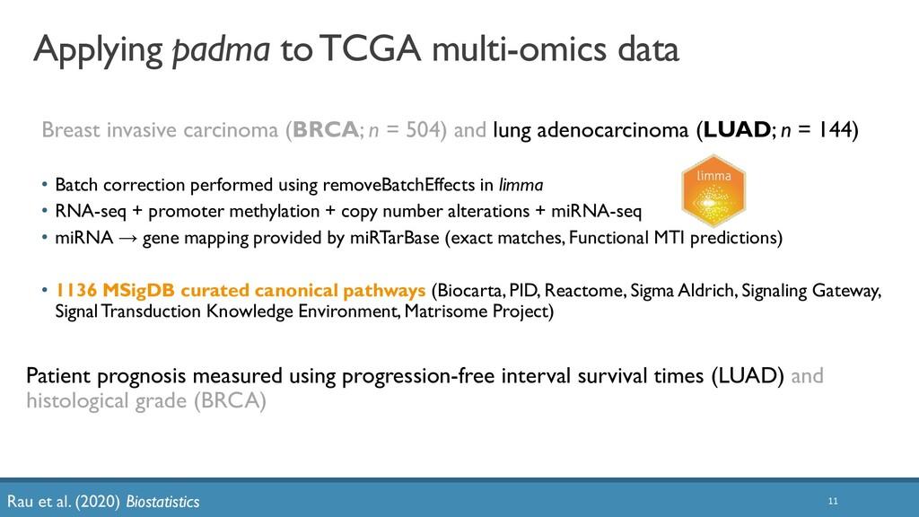 11 Applying padma to TCGA multi-omics data Brea...