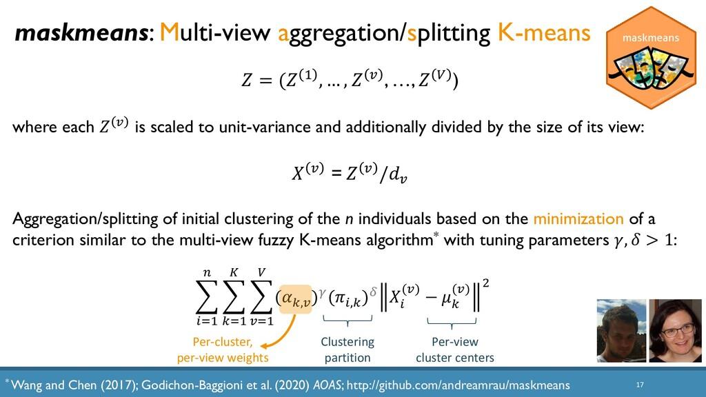 17 maskmeans: Multi-view aggregation/splitting ...