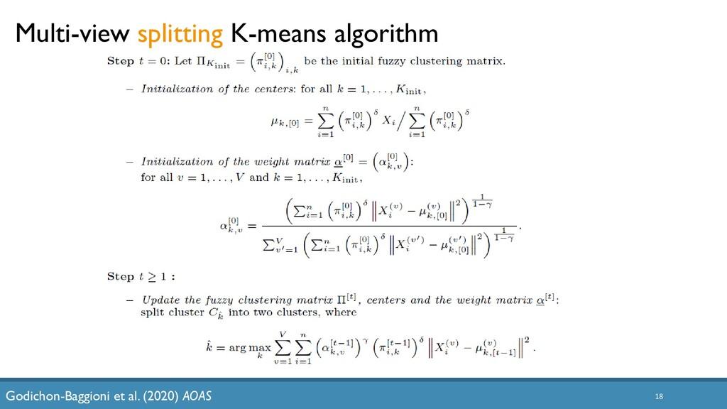 18 Multi-view splitting K-means algorithm Godic...