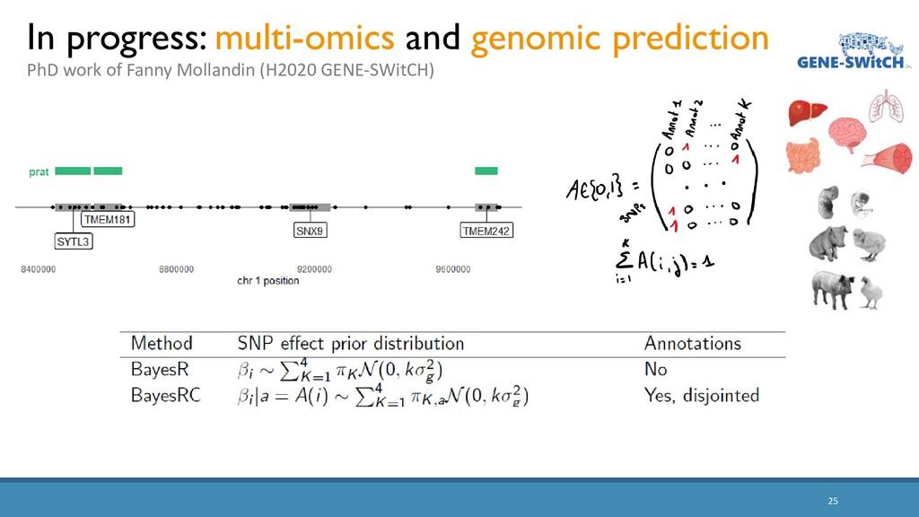25 In progress: multi-omics and genomic predict...