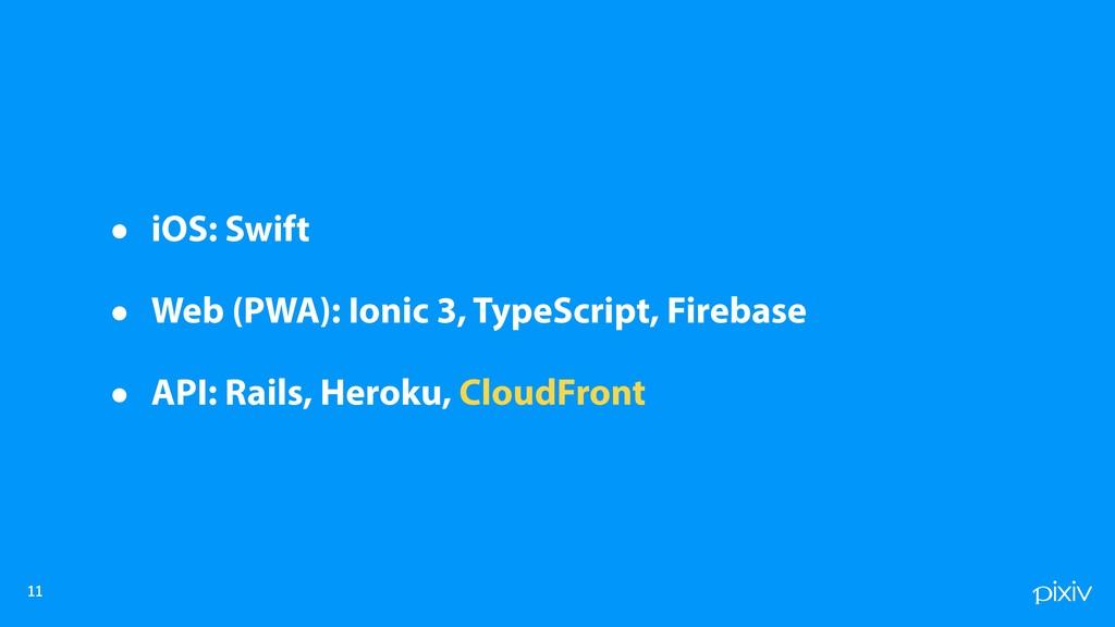 • iOS: Swift • Web (PWA): Ionic 3, TypeScr...