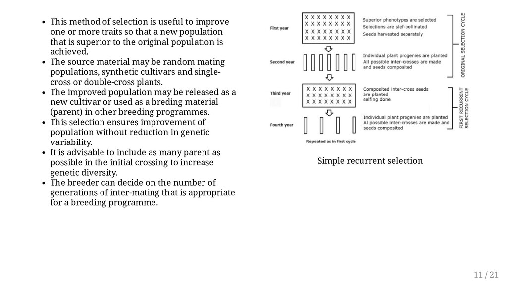This method of selection is useful to improve o...