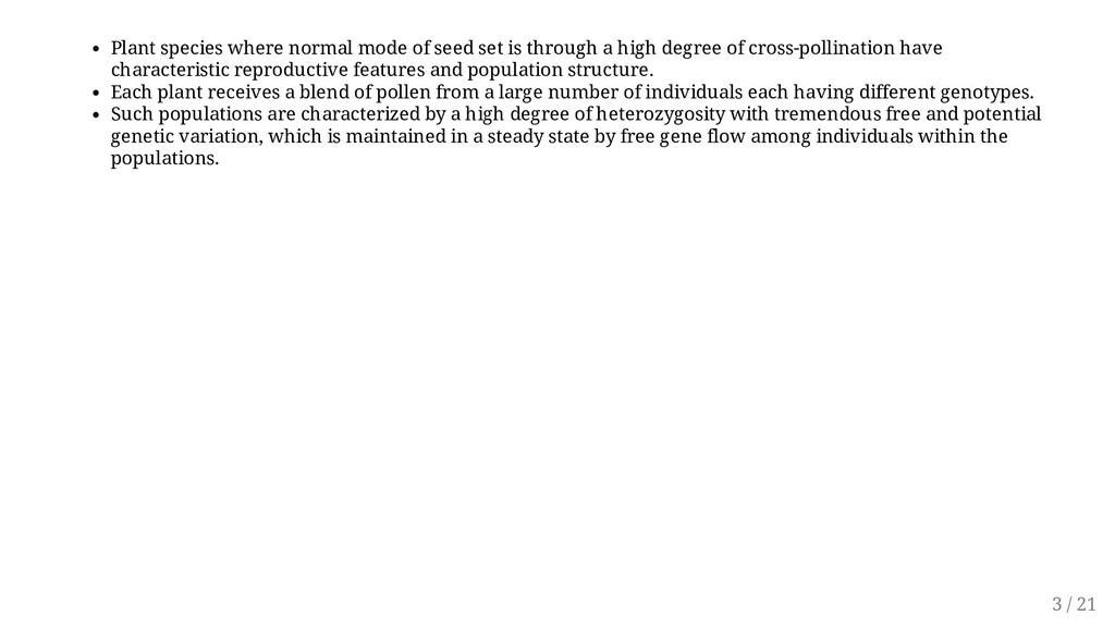 Plant species where normal mode of seed set is ...