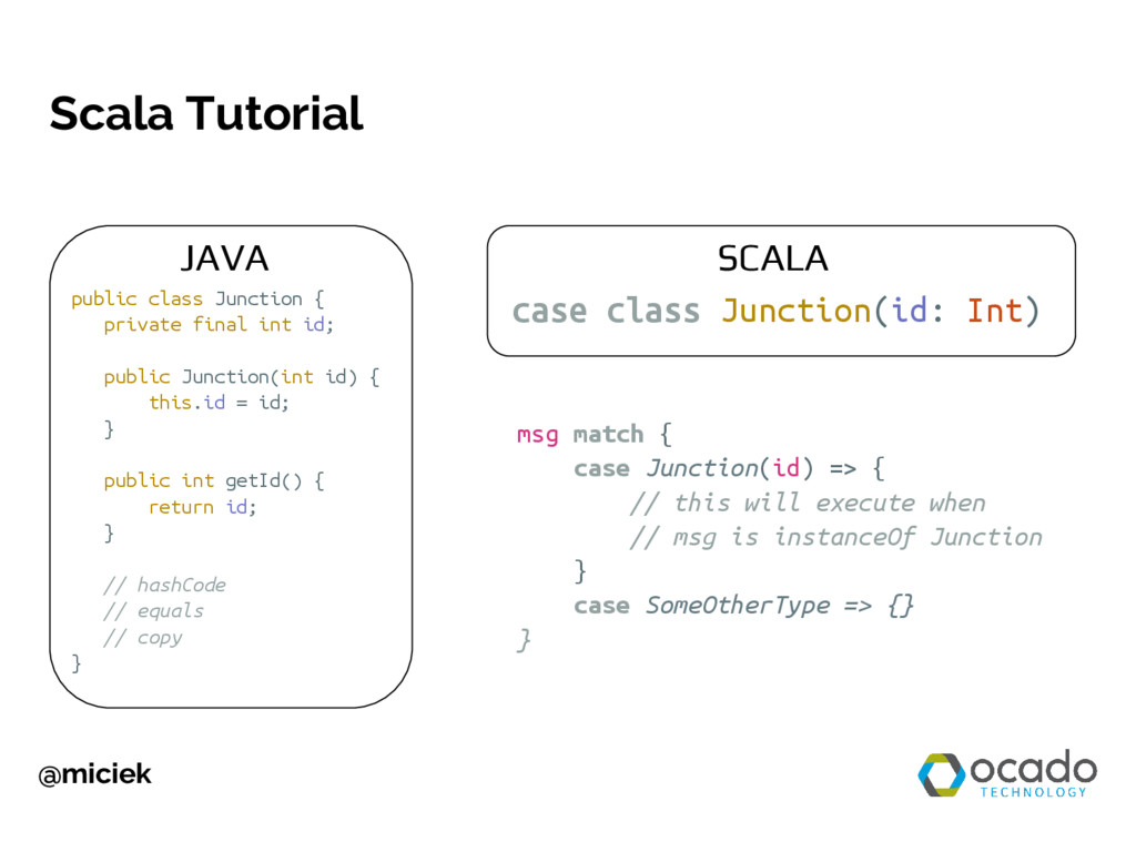 @miciek Scala Tutorial case class Junction(id: ...