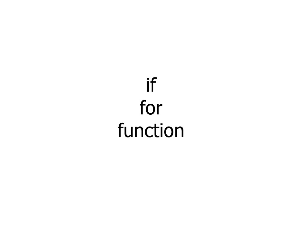 if for function