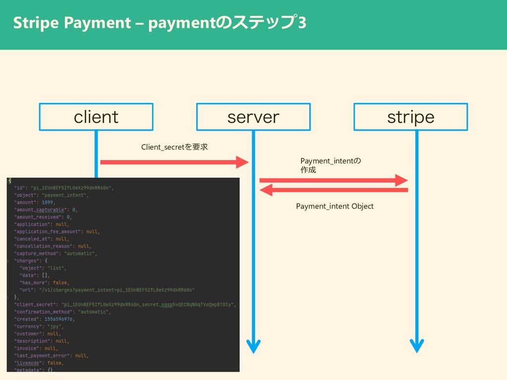 Stripe Payment – paymentのステップ3 DMJFOU TFSWFS TU...