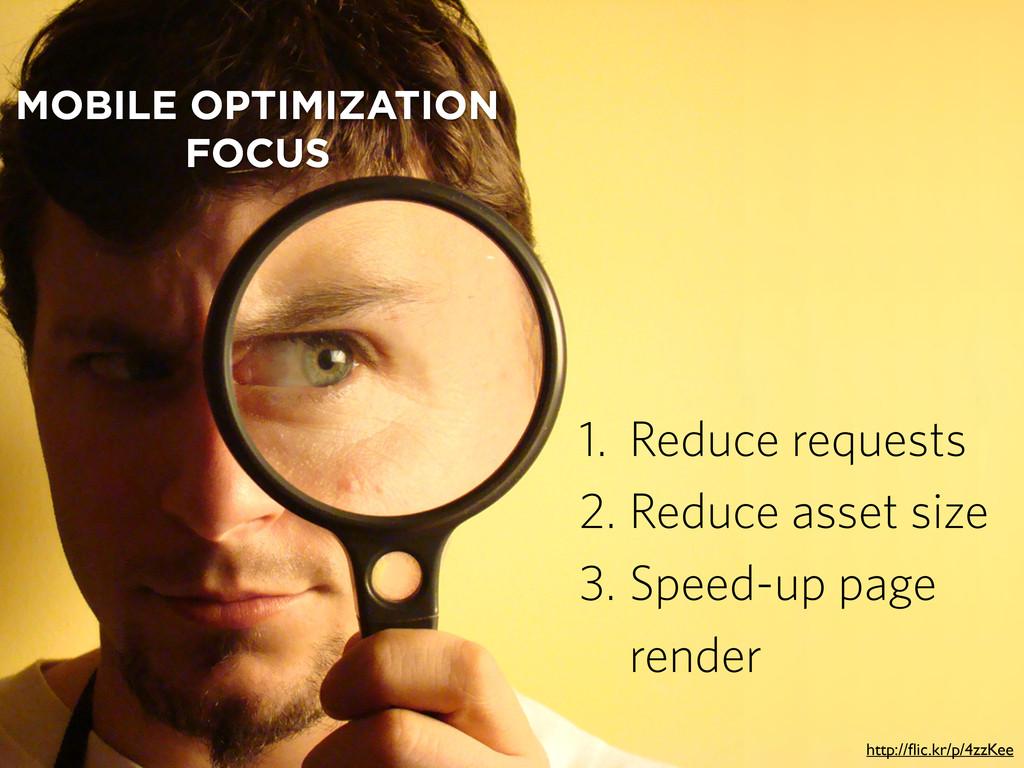 MOBILE OPTIMIZATION FOCUS 1. Reduce requests 2....