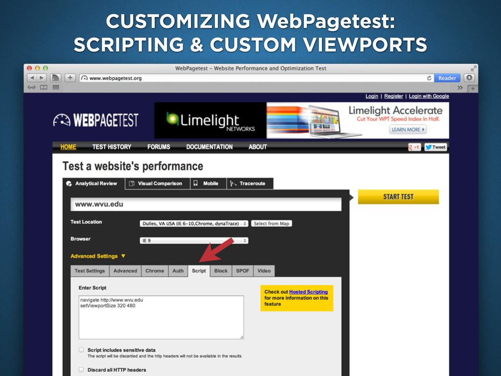 Google Analytics Site Speed CUSTOMIZING WebPage...