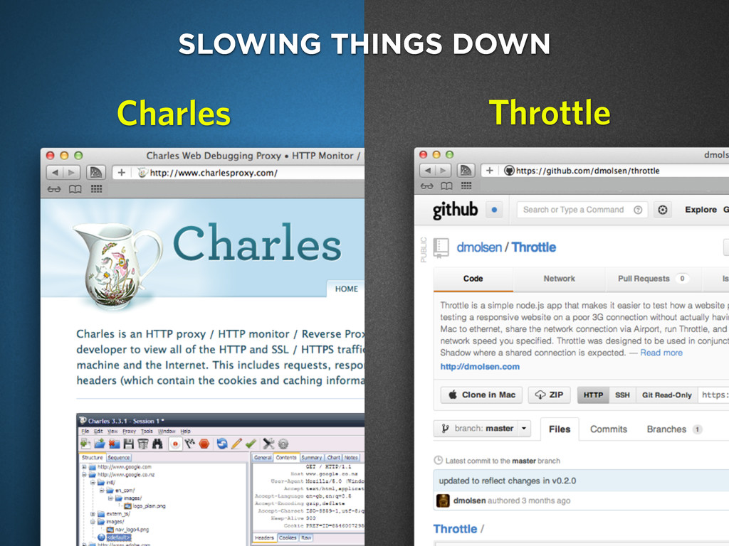 charlesproxy.com SLOWING THINGS DOWN Throttle C...