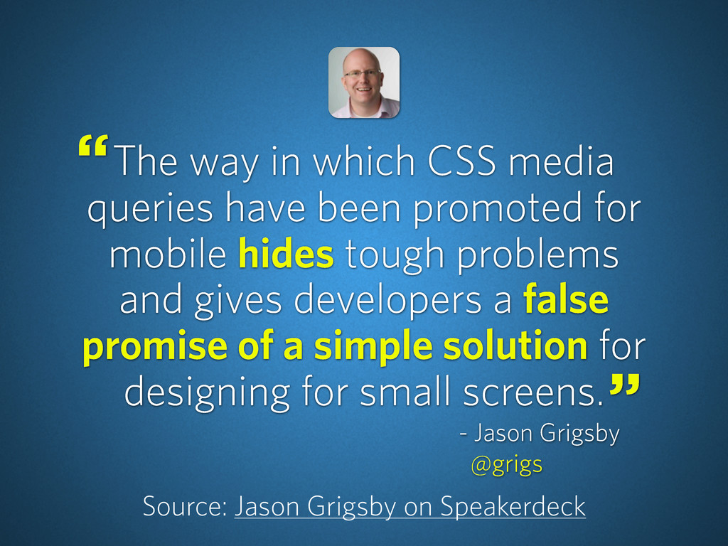 The way in which CSS media queries have been pr...