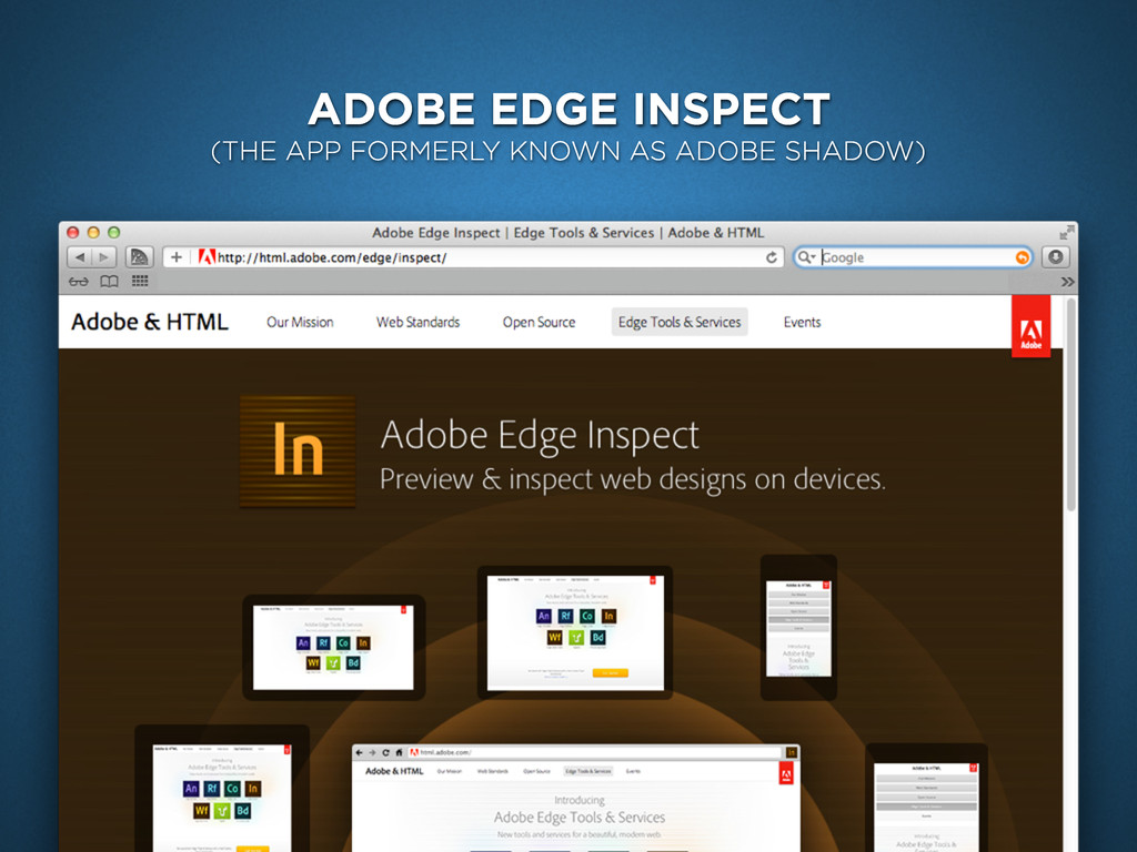 ADOBE EDGE INSPECT (THE APP FORMERLY KNOWN AS A...