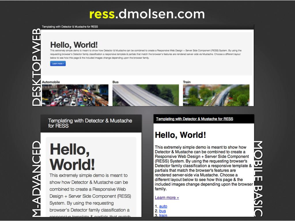 DESKTOP WEB M-ADVANCED ress.dmolsen.com MOBILE ...