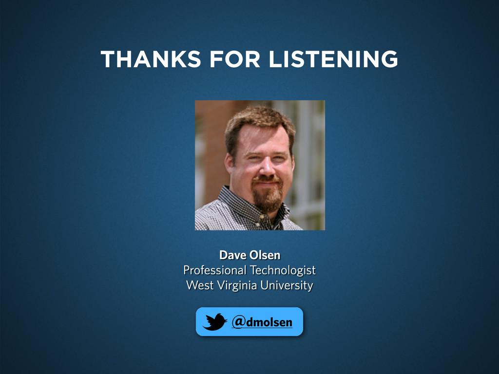 Dave Olsen Professional Technologist West Virgi...