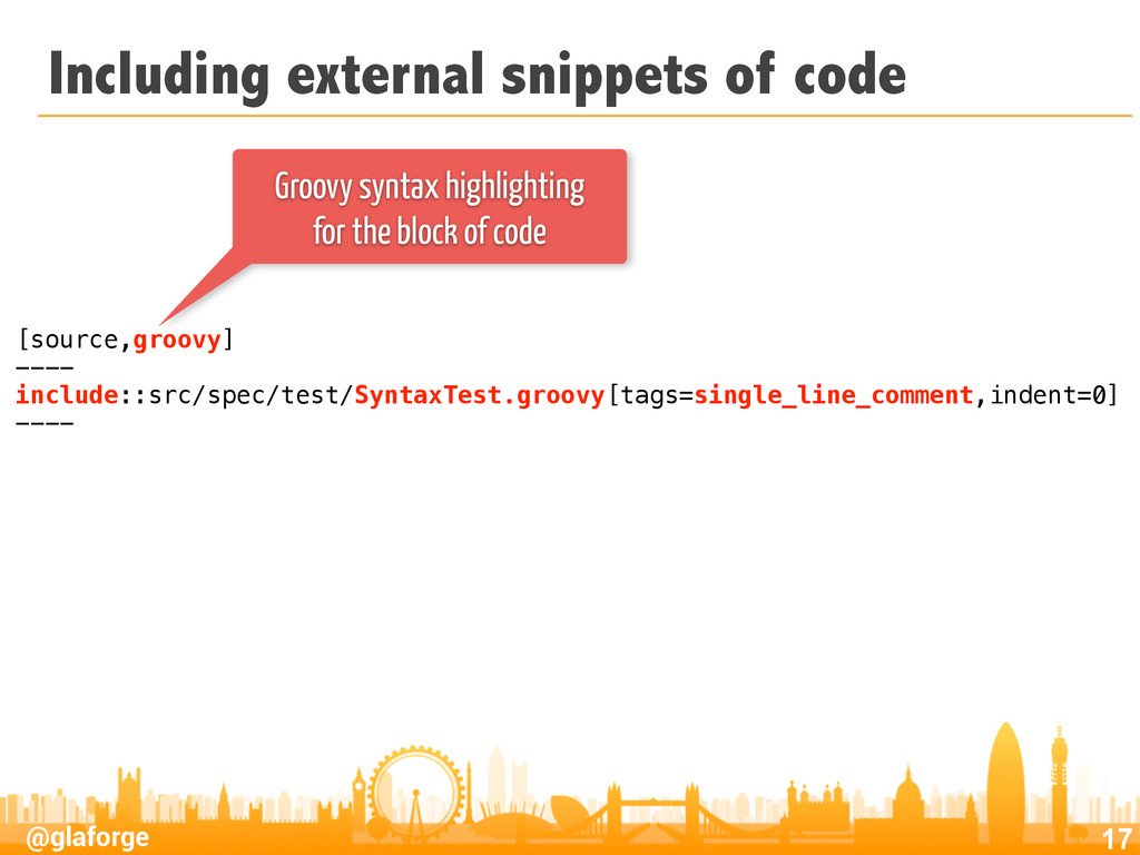 @glaforge Including external snippets of code 1...