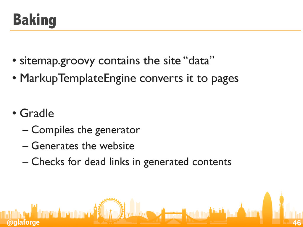 @glaforge Baking • sitemap.groovy contains the ...
