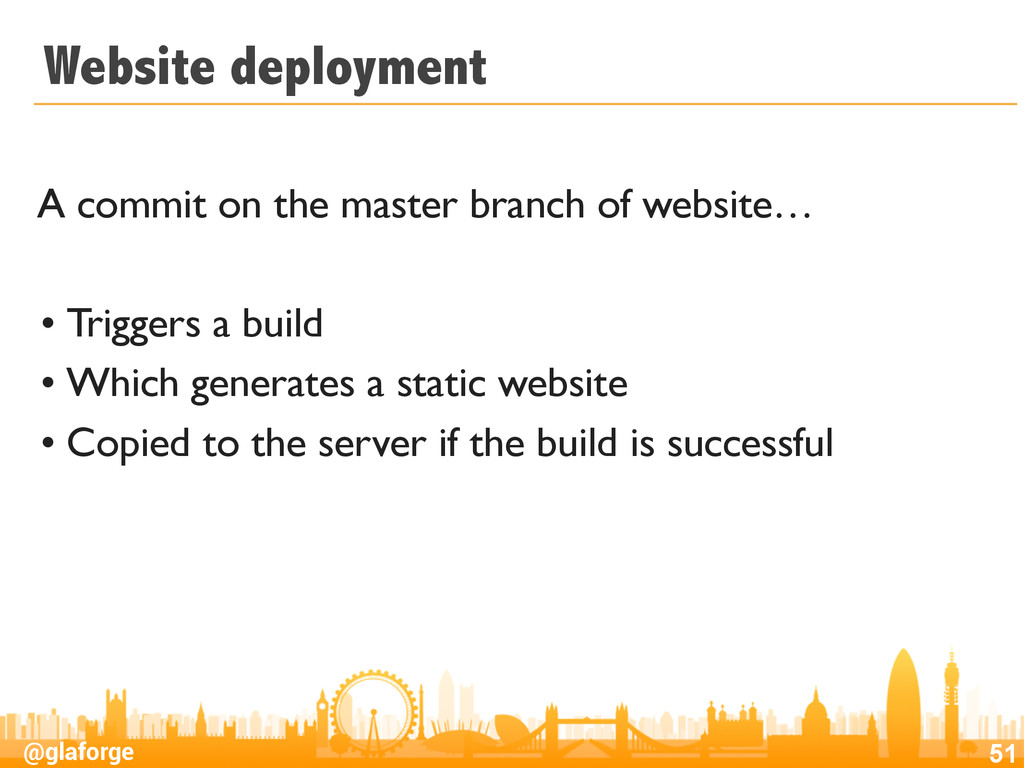 @glaforge Website deployment A commit on the ma...