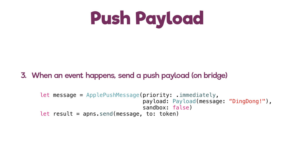 Push Payload 3. When an event happens, send a p...
