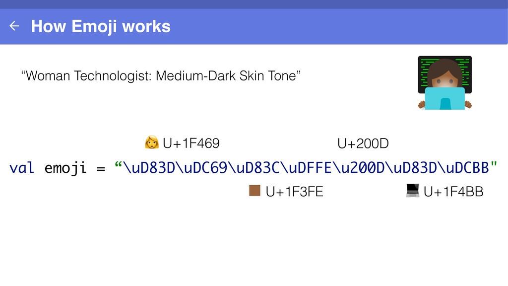 "How Emoji works ""Woman Technologist: Medium-Dar..."