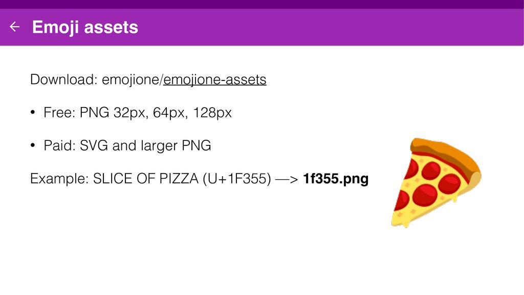 Emoji assets Download: emojione/emojione-assets...