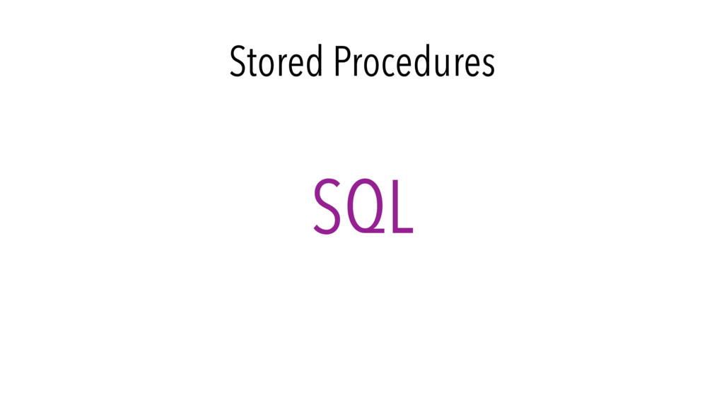 Stored Procedures SQL