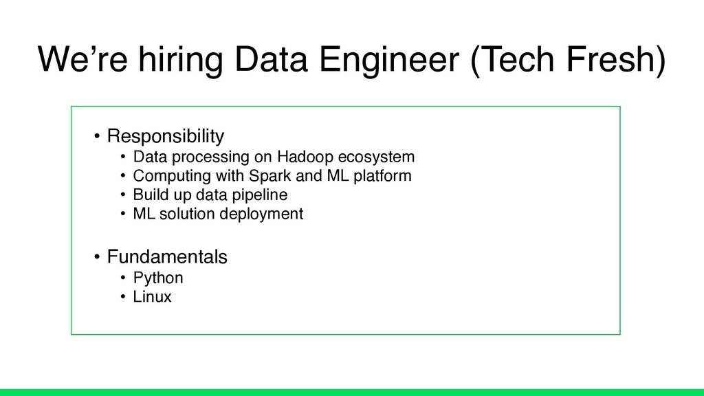 • Responsibility • Data processing on Hadoop ec...