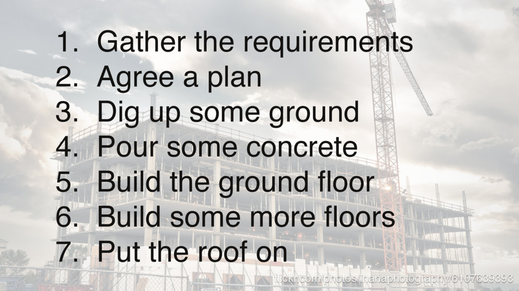 1. Gather the requirements 2. Agree a plan 3. D...
