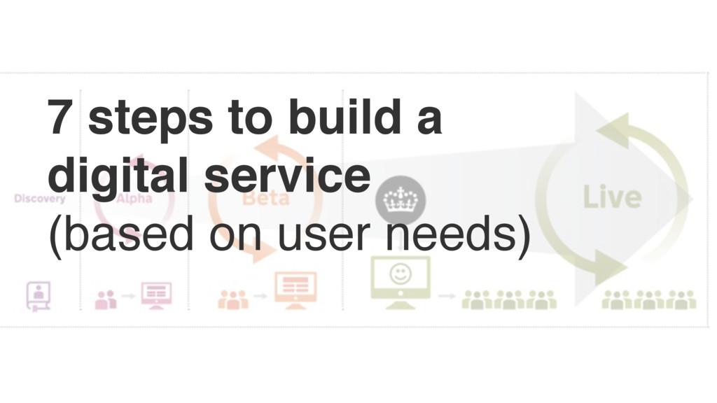 7 steps to build a digital service (based on u...