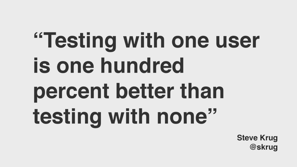 """Testing with one user is one hundred percent b..."