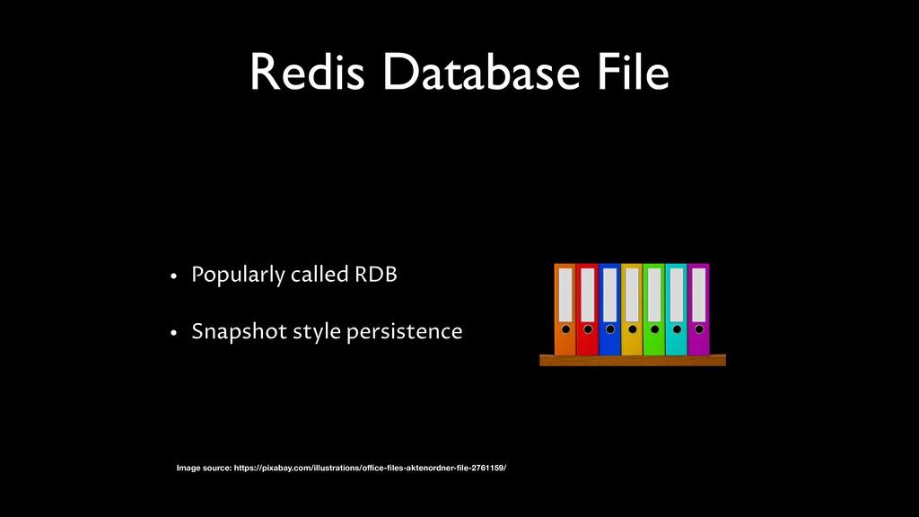 Redis Database File • Popularly called RDB • Sn...