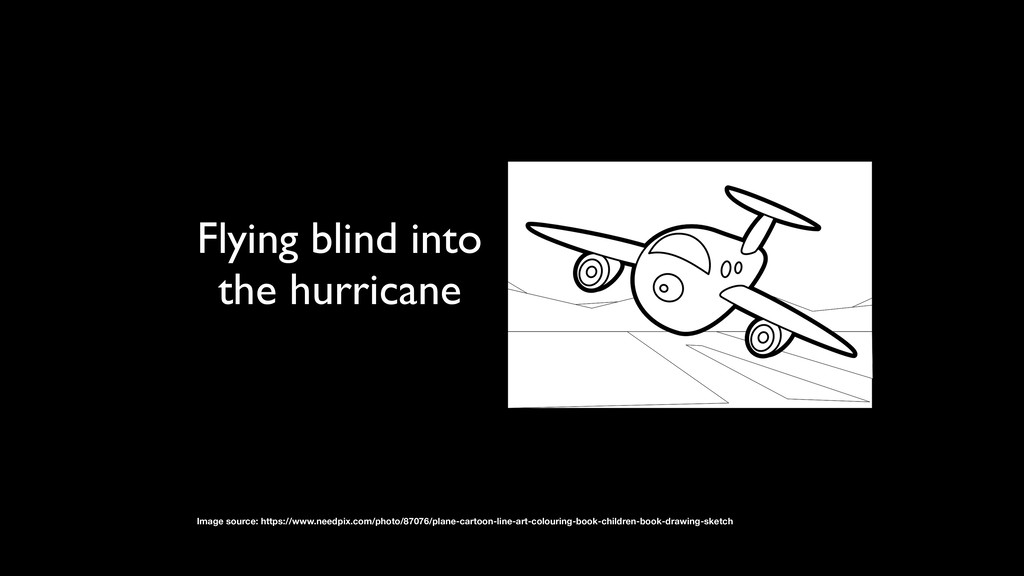 Flying blind into the hurricane Image source: h...