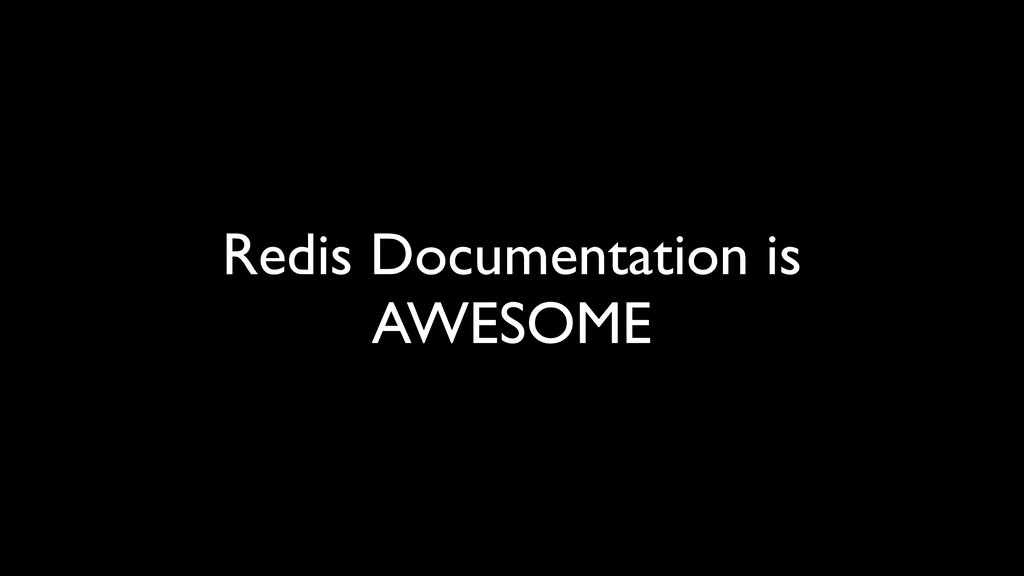 Redis Documentation is AWESOME