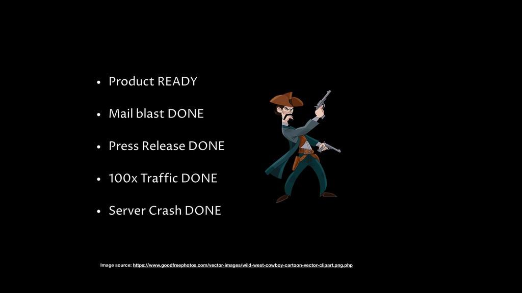 • Product READY • Mail blast DONE • Press Relea...
