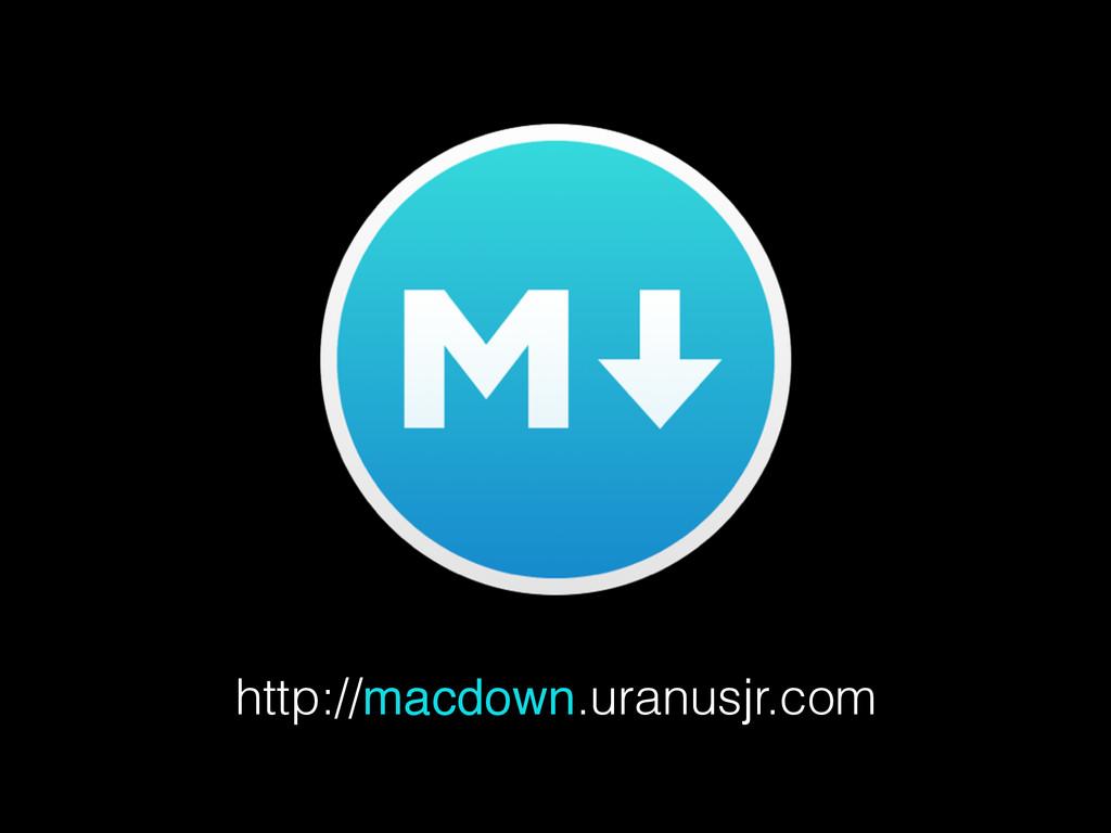 http://macdown.uranusjr.com
