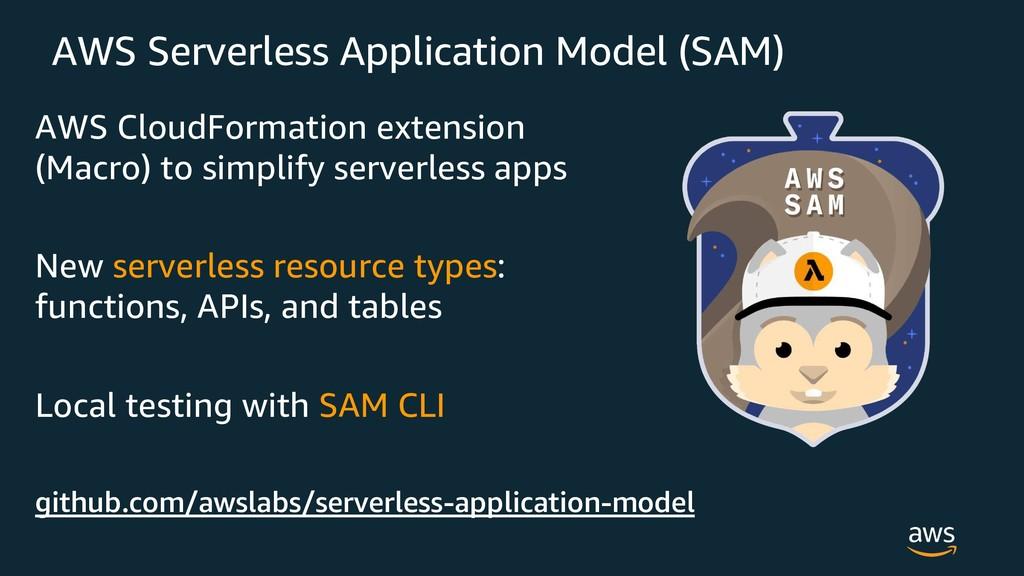 AWS Serverless Application Model (SAM) AWS Clou...