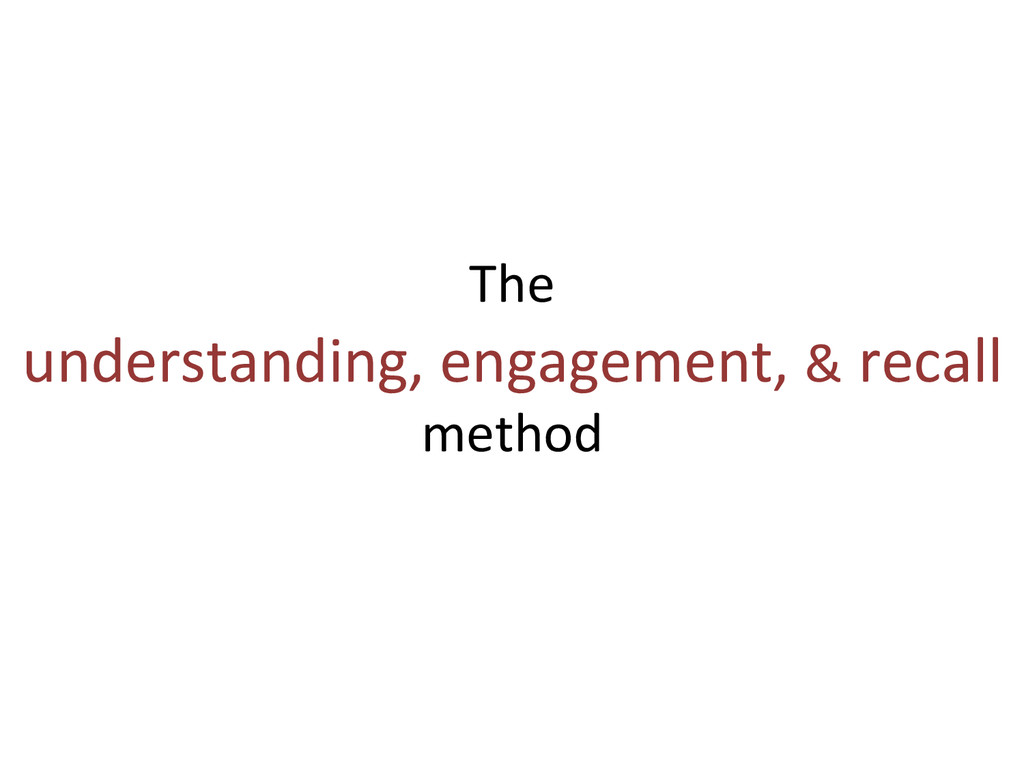The   understanding, engagement, &...