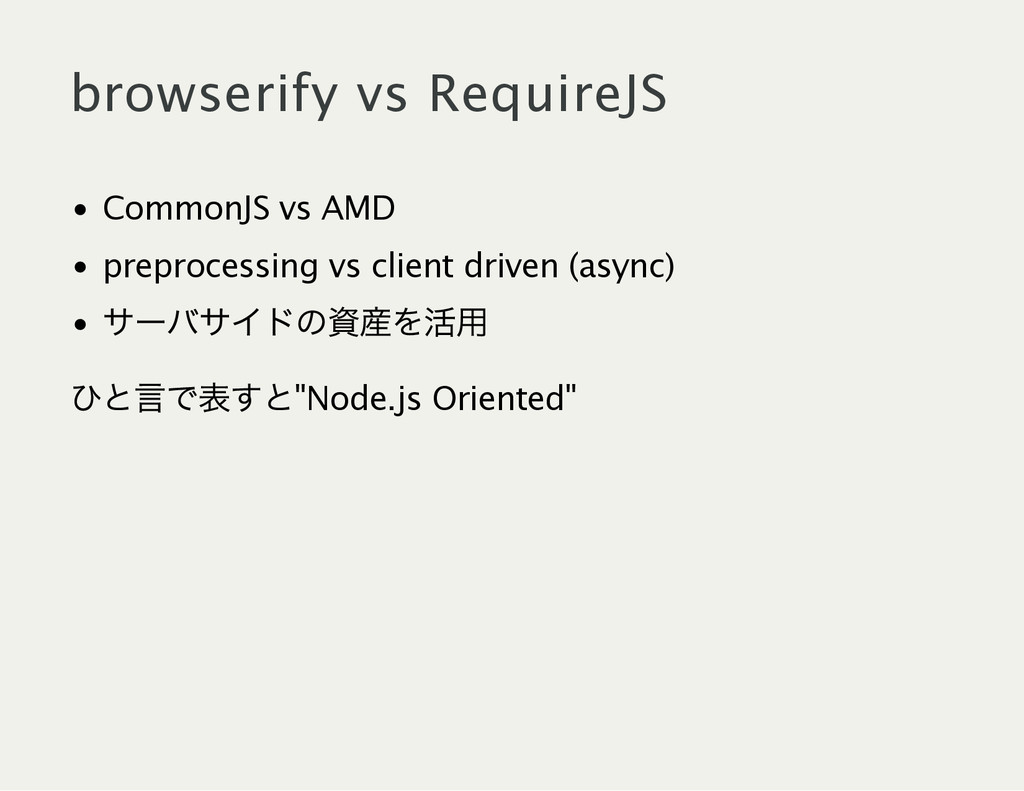 browserify vs RequireJS CommonJS vs AMD preproc...