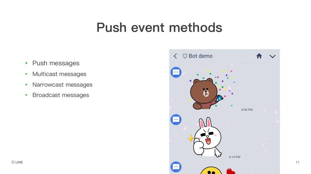 • Push messages • Multicast messages • Narrowca...